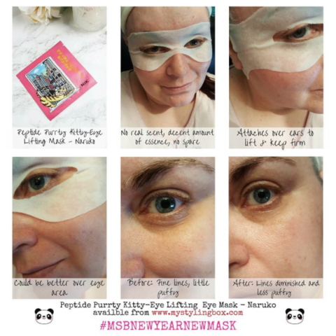 Naruko Peptide Purrty Kitty - Eye Lifting Eye Mask | My Styling Box
