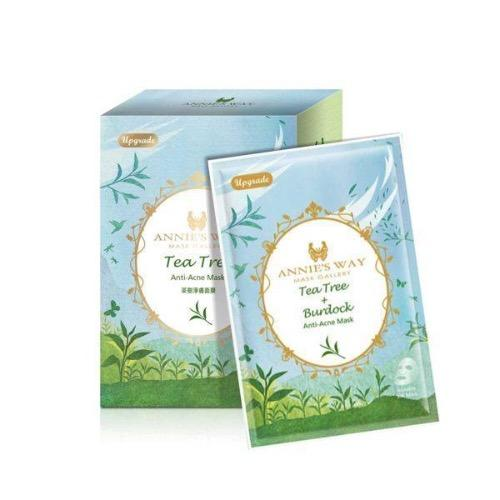 Annie's Way Tea Tree & Burdock Anti-Acne Silk Mask - 10PCS/BOX | Annie's Way | My Styling Box