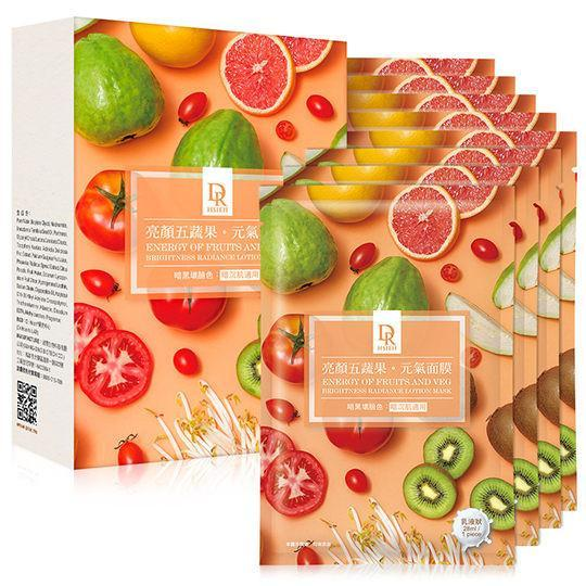 Dr. Hsieh Energy of Fruit & Vegetable Brightness Radiance Lotion Mask - 8 PCS/BOX | Dr. Hsieh | My Styling Box
