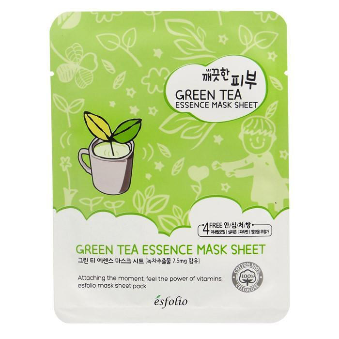 Esfolio Pure Skin Essence Mask Sheet - Green Tea | Esfolio | My Styling Box