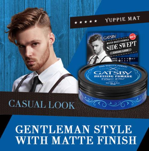 Gatsby Dressing Pomade Yuppie Mat Casual Look Hair Styling Wax-Gatsby | My Styling Box