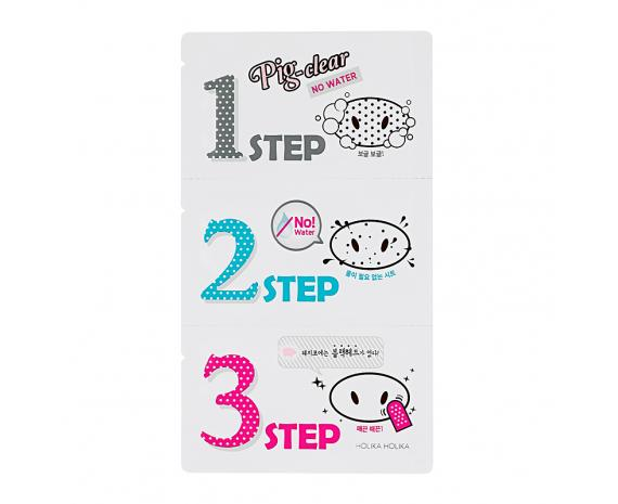 Holika Holika Pig Clear Black Head 3-Step Kit - No Water-Holika Holika | My Styling Box