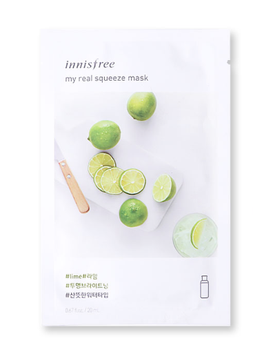Innisfree It's Real Squeeze Mask - Lime | Innisfree | My Styling Box