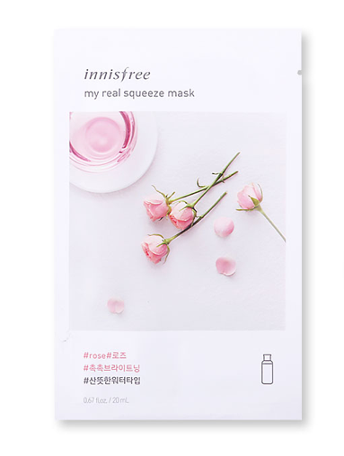 Innisfree It's Real Squeeze Mask - Rose | Innisfree | My Styling Box