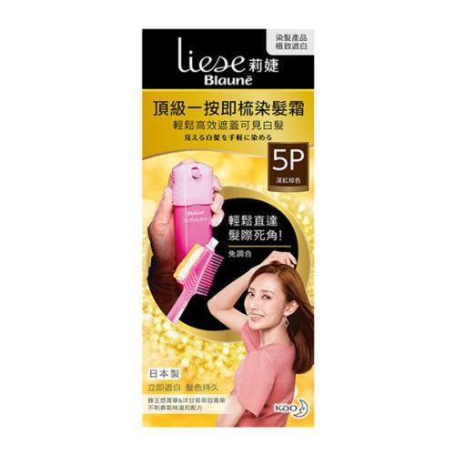 Kao Liese Blaune One Touch Cream Color Hair Dye Kit - 5P Darm Red Brown-Kao Liese | My Styling Box