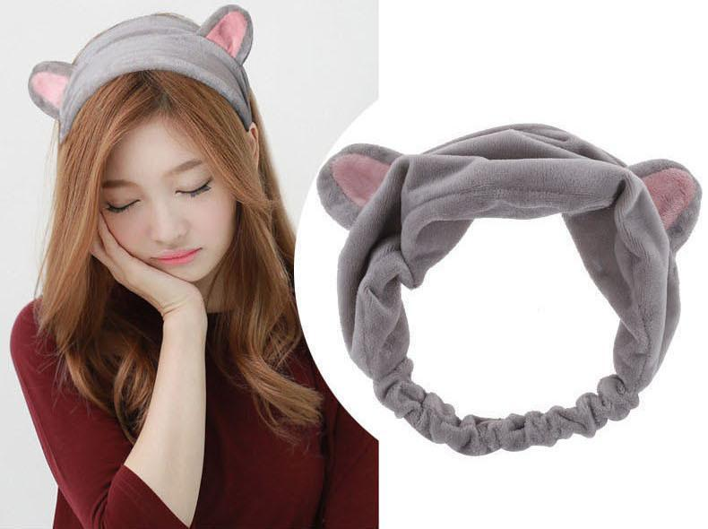 Kitty Cat Ear Headband Hair Band - Gray | Kumi | My Styling Box