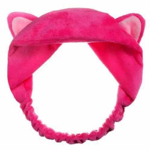 Kitty Cat Ear Headband Hair Band - Hot Pink | Kumi | My Styling Box