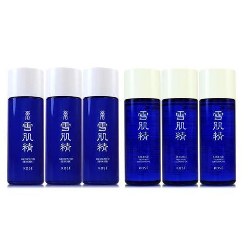 Kose Medicated Sekkisei Toner & Cleansing Oil - 33ml x 3 Travel Size | Kose | My Styling Box