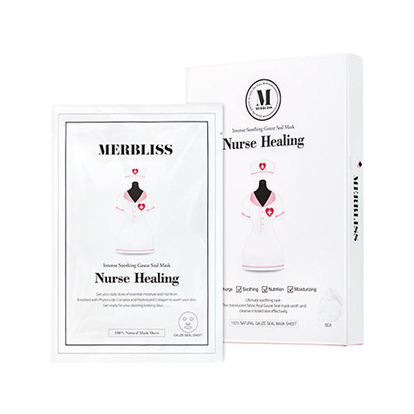 Merbliss Nurse Healing Intense Soothing Gauze Seal Mask - 5PCS/BOX | Merbliss | My Styling Box