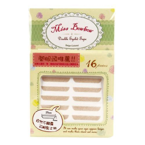Miss Bowbow No. 1 Open Eyes 3M Beige Mesh Double Eyelid Tape - 32 PCS | Miss Bowbow | My Styling Box