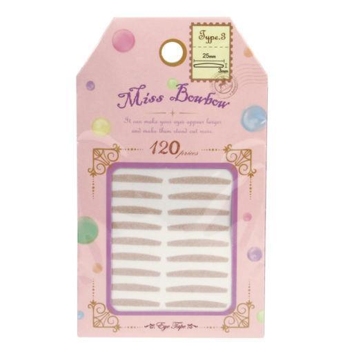 Miss Bowbow Type 3 Invisible Eyelid 3M Tape Inner Eyelid - 120 PCS | Miss Bowbow | My Styling Box