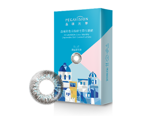 Pegavision Color Monthly Disposable Contact Lens Travel Series - Blue | Pegavision | My Styling Box