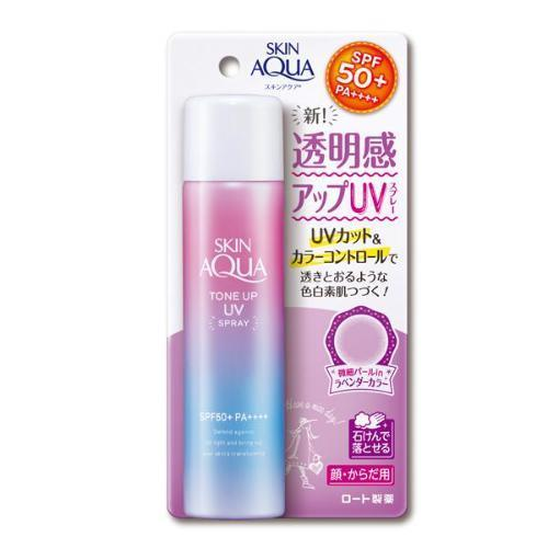 Rohto Mentholatum Skin Aqua Tone Up UV Spray Sunscreen SPF50+ PA++++ | Rohto Mentholatum | My Styling Box