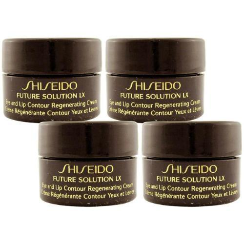Shiseido Future Solution LX Eye and Lip Contour Regenerating Cream - 2.5ml x 4 Travel Size | Shiseido | My Styling Box