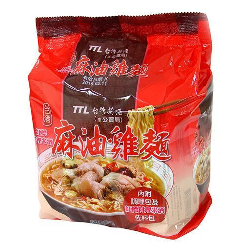 TTL Taiwan Sesame Oil Chinese Wine Chicken Instant Noodle - 3 Packs/BAG | TTL | My Styling Box