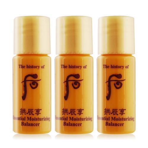 Whoo Gongjinhyang Essential Moisturizing Balancer - 5.5ml x 3 Travel Size | The History of Whoo | My Styling Box