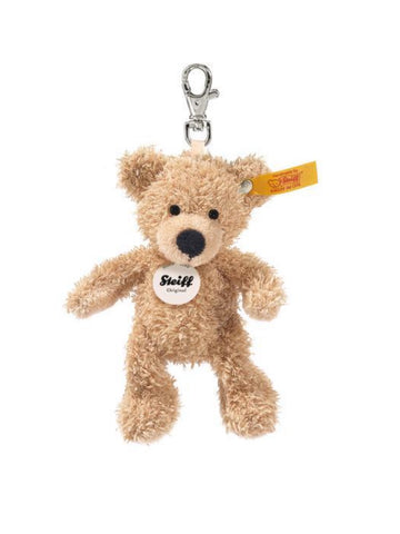 Fynn 12cm Steiff Plush Beige Teddy Bear Key Ring
