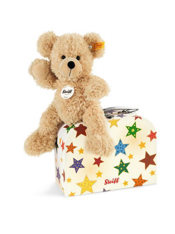 Fynn Beige 23cm Steiff Plush Kids Teddy Bear in Stars Suitcase