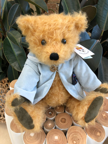 Christopher Fully Jointed Gold Curly Mohair Handmade Collectable Teddy Bear
