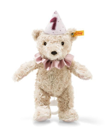 First Birthday 26cm Pink Steiff Plush Musical Teddy Bear