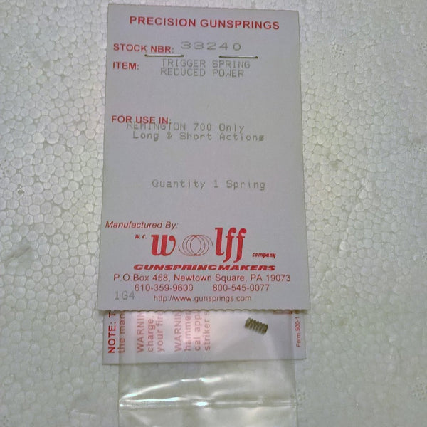 Wolff Remington 700 Reduced Power Trigger Spring