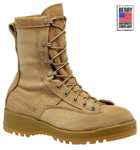 Belleville Women's Waterproof Flight & Combat Boot - Tan