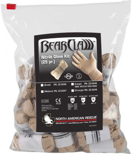 North American Rescue Bear Claw Glove Kit
