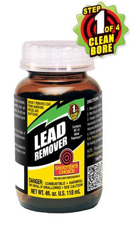 Shooter's Choice Lead Remover Liquid 4 oz. Cleaner/Degreaser 12/Box Jar LRS04