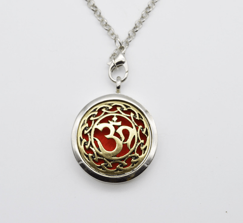 Aum Aromatherapy Locket Essential Oil Diffuser Necklace Perfume Locket - Seasons Chic