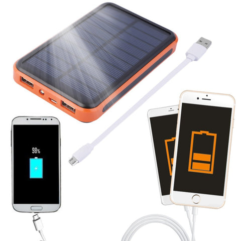 15000 mah Waterproof Portable Solar Power Bank Dual USB Solar Charger for cell phone Wholesale - Seasons Chic