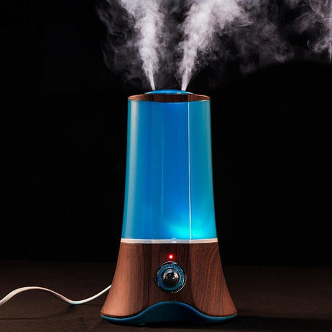 1.5L Wood Grain Ultrasonic Aromatherapy Humidifier Essential Oil Diffuser 7 Colors Changing Light  Mist Maker Fogger 110V-220V - Seasons Chic