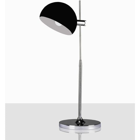 Kells Black Glass Dome Lamp