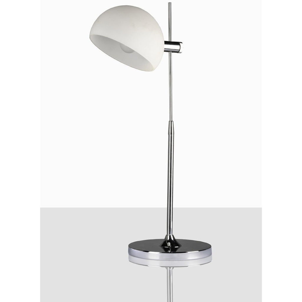 Kells White White Glass Dome Lamp