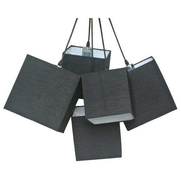 Loria Black Black Square Cluster Pendant Lights