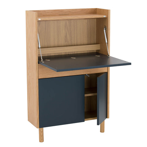BARTON Study Desk 71cm - Blue & Natural