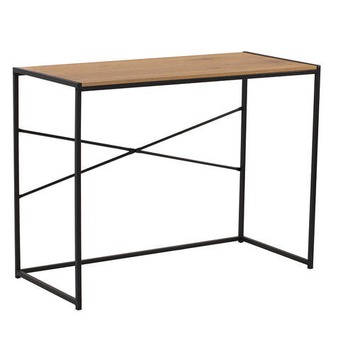 BRADFORD Study Desk 100cm - Natural & Black
