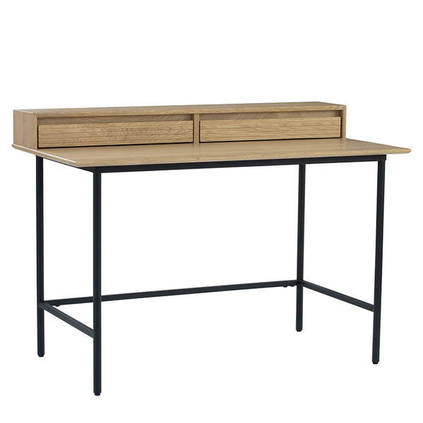 DOVER Study Desk 120cm - Natural & Black
