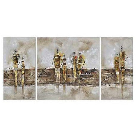 Modern Triptych Oil Painting