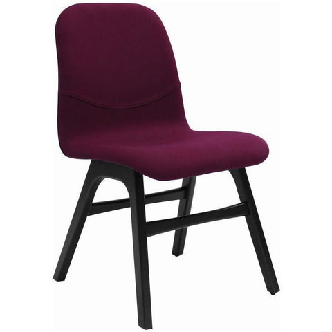 Ava Dining Chair - Espresso + Ruby