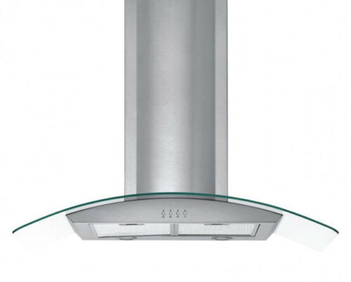 PYE 900mm Stainless Steel Glass Canopy Range Hood