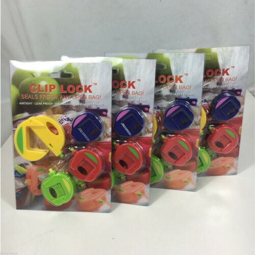 16pc Airtight Seal Food Bag Storage Sealing Clips Plastic Bags Ziplock Clip