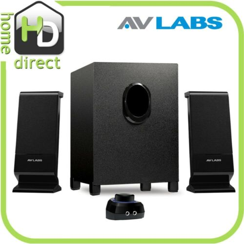 NEW AVLabs 3 Pc 2.1 MULTIMEDIA COMPUTER SPEAKER SYSTEM w/ Subwoofer