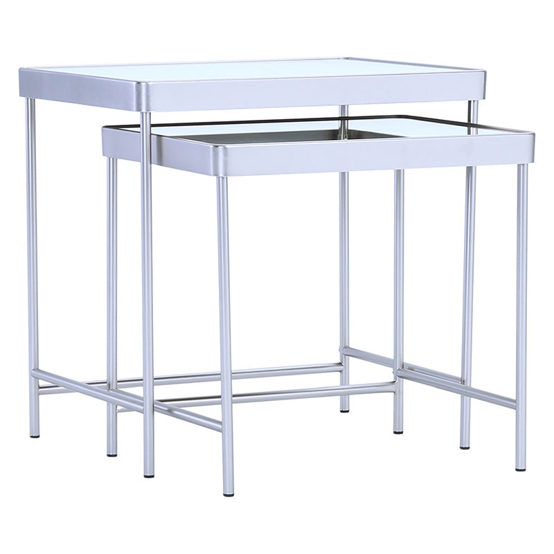 CAMEO Nest of 2 Tables - Mirror