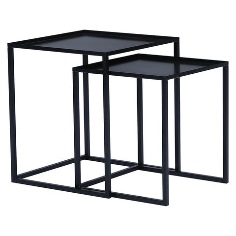 CARIAD Nest of 2 Tables Square - Black Colour