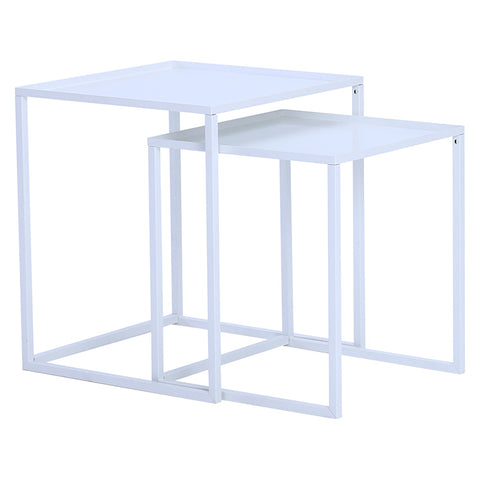 CARIAD Nest of 2 Tables Square - White Colour