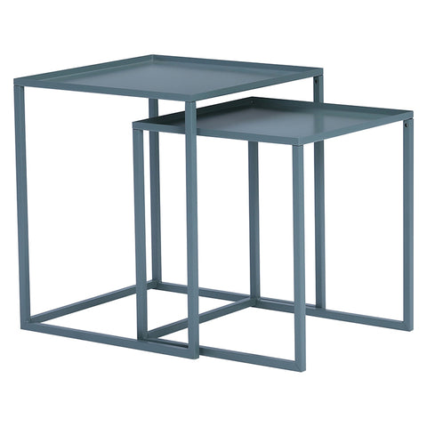 CARIAD Nest of 2 Tables Square - Grey Colour
