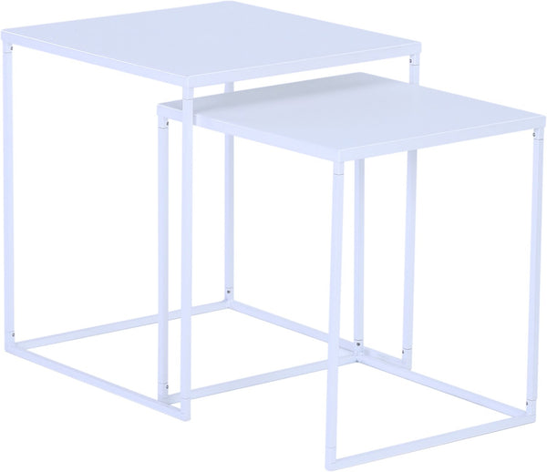 DARNELL Nest of 2 Tables 40cm - White