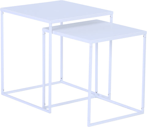 DARNELL Nest of 2 Tables - White