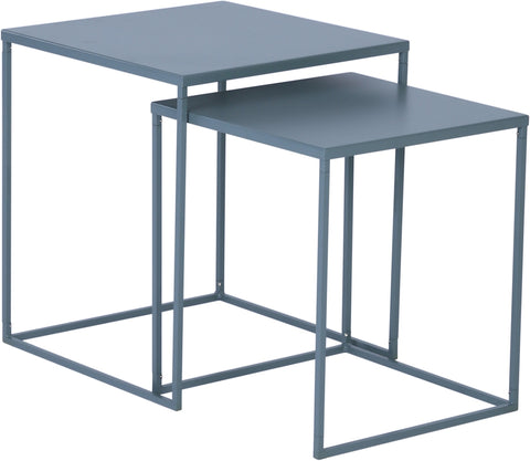 DARNELL Nest of 2 Tables 40cm - Grey