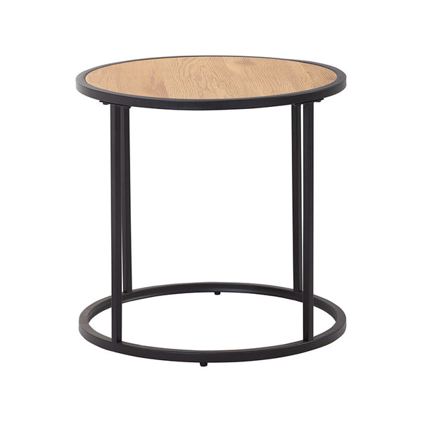 BRADFORD Side Table 45cm - Natural & Black